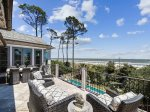 Large Balcony Accessible from Master Bedroom Offers Wonderful Ocean Views at 10 East Wind
